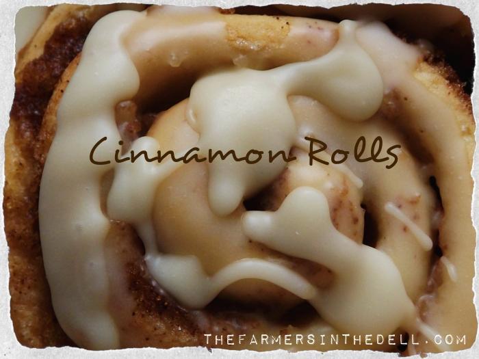 cinnamon rolls - TheFarmersInTheDell.com