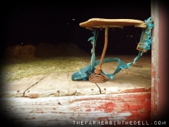 the old milking stool - TheFarmersInTheDell.com