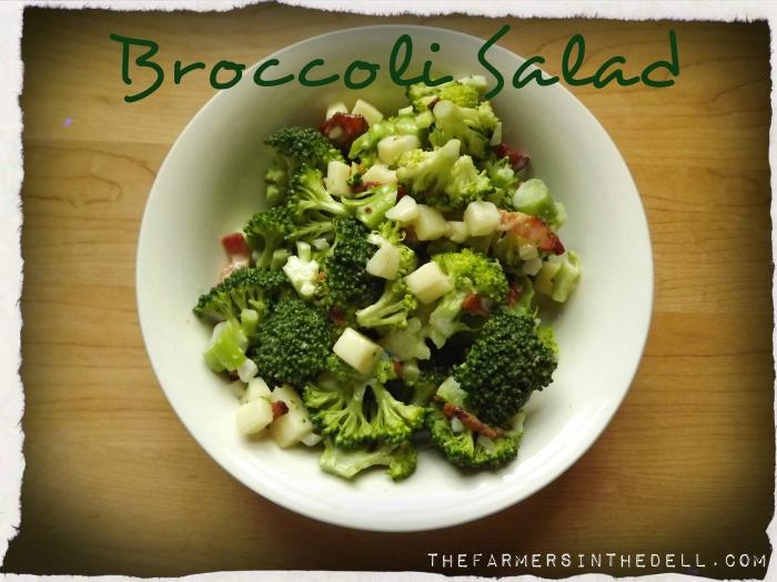 broccoli salad - TheFarmersInTheDell.com