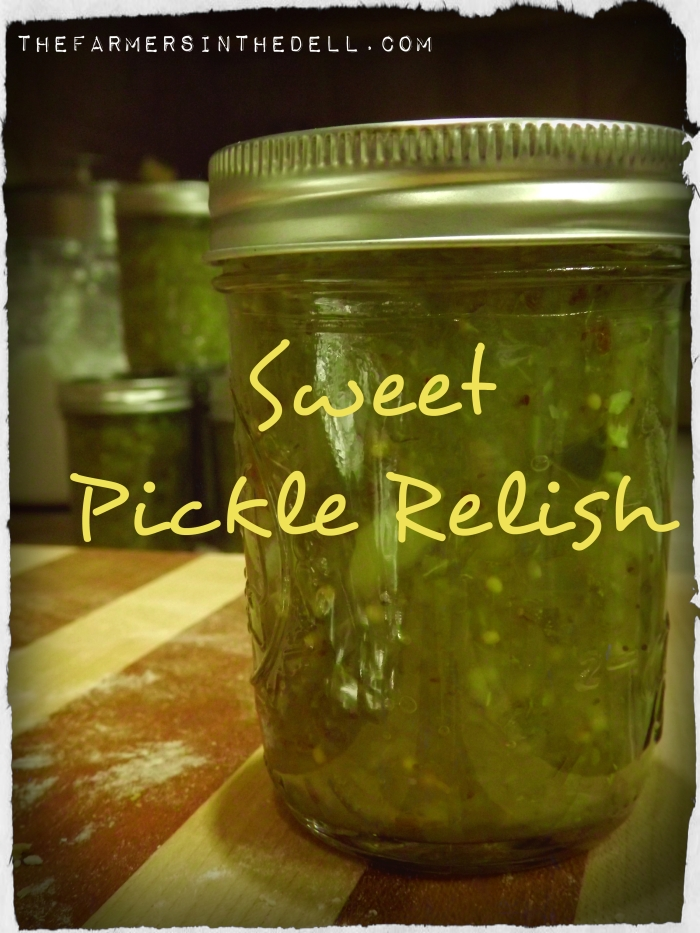 sweet pickle relish - TheFarmersInTheDell.com