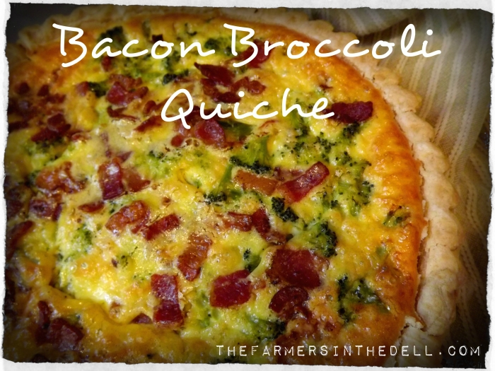 bacon broccoli quiche - TheFarmersInTheDell.com