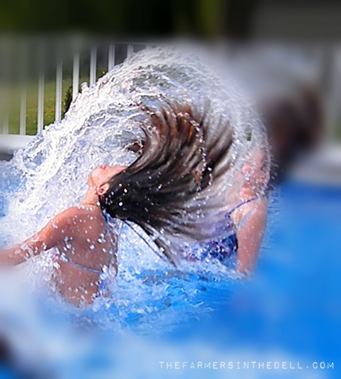 pool hair flip - TheFarmersInTheDell.com