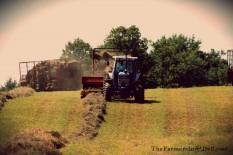 baling hay - TheFarmersInTheDell.com