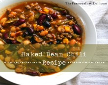 baked bean chili - TheFarmersInTheDell.com