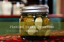 pickled green tomatoes - TheFarmersInTheDell.com