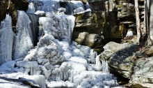 frozen waterfall - TheFarmersInTheDell.com