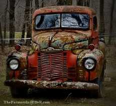 old pickup truck - TheFarmersInTheDell.com