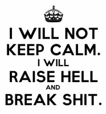 raise hell and break shit - TheFarmersInTheDell.com