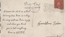 postcard Geraldine Solon - TheFarmersInTheDell.com