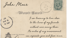 postcard John Muir - TheFarmersInTheDell.com