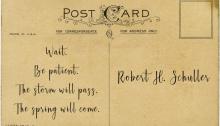 postcard Robert H Schuller - TheFarmersInTheDell.com
